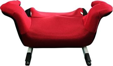 Phenix Edi-Fix Autositzerhöhung Isofix Befestigungssystem, Gruppe II und III, 15-36 kg, Phenix, ECE 44/04 geprüft, mesh bezug, rot - 3