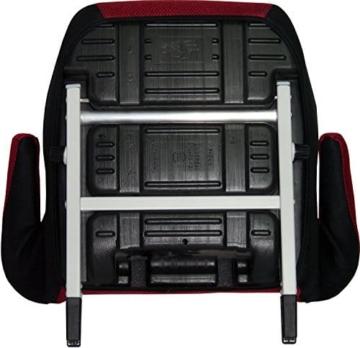 Phenix Edi-Fix Autositzerhöhung Isofix Befestigungssystem, Gruppe II und III, 15-36 kg, Phenix, ECE 44/04 geprüft, mesh bezug, rot - 4